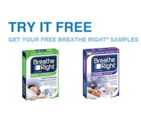 Free Sample of Breathe Right Nasal Strips!