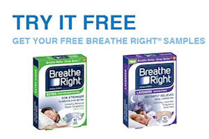 Free Sample of Breathe Right Nasal Strips!