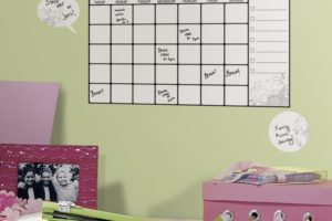 Peel & Stick Dry Erase Calendar, Perfect for Dorms!
