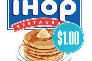 8/23: IHOP Short Stack for Only $1!