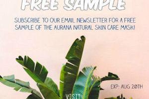 Free Sample of Aurana Natural Face Mask