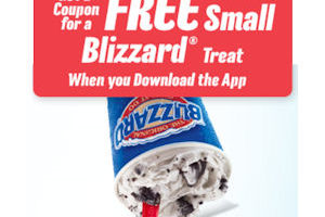 Free DQ Blizzard Treat with App!