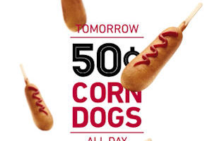 8/31: Snag Yourself .50 Sonic Corn Dogs ALL DAY!