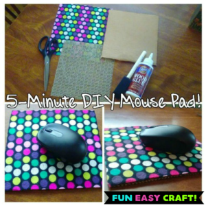 How To Make a DIY Mouse Pad in 5-Minutes!