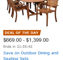 Today Only, Save on Outdoor Dining and Seating Sets!