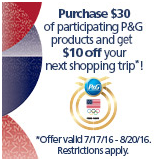 Hannaford – Spend $30 on Participating P&G Items Get a $10.00 Catalina