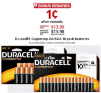16ct. Duracell Batteries for A PENNY?! Whoo!!