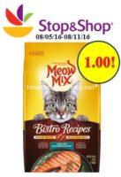 Meow Mix onlu $1.00 at Stop & Shop!