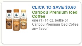 HOT Doubler .60 Off Caribou Iced Coffee