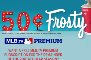 *FREE* MLB.TV Premium Sub. with Wendy's Frosty Photo