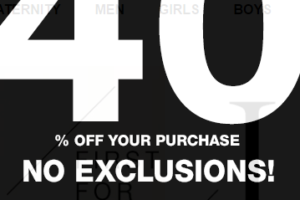 40% off your GAP purchase, No Exclusions!