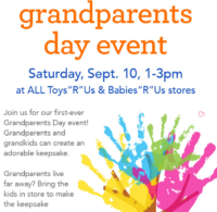 """9/10: FREE Grandparents Day Event @ ALL Toys/Babies""""R""""Us!"""