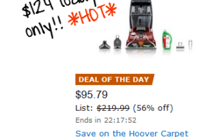 *Deal of the Day* 56% off Hoover Carpet Cleaner!!