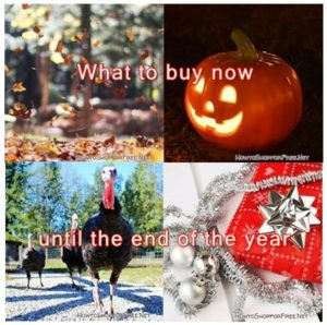 What to buy now until the end of the year!