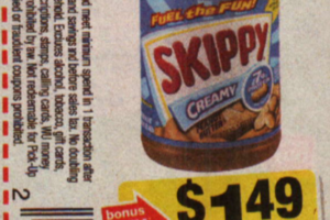 Updated .92For Skippy Peanut Butter At Stop & Shop
