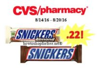 Snickers Bars only .22 at CVS!