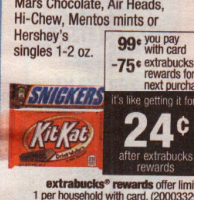 .26 Moneymaker on Snickers At CVS