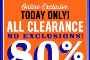 Today Online Only, 80% OFF Clearance +Free S&H!