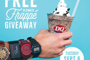 9/6: Free Ultimate Oreo Frappé at Dairy Queen!