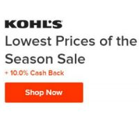 9/29 ONLY: Kohl's Lowest Prices of the Year +10% Cash back from Ebates!!