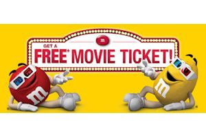 Free Movie Ticket with M&M's Purchase ($12 Value)