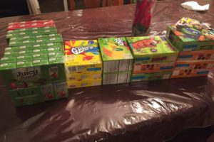 WOW! Look at the Snacks and Juice Breana Picked up for less than $2.00 at Stop & Shop!