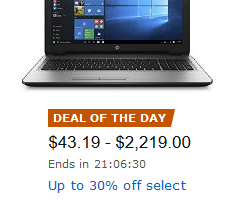 *Deal of the Day* Up to 30% off Select Computers