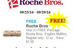 Free English Muffins at Roche Bros.!