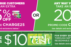 Up to 25% off Kohl's Orders +$10 Kohl's Cash wys $50!