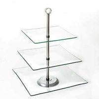 $10 Chef Buddy 3 Tier Glass Dessert Stand, Perfect for Holidays!