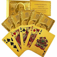 (2pk) 24-Karat-Gold Playing Cards $10! Fun for Parties!