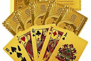 (2pk) 24-Karat-Gold Playing Cards $10! Fun for Parties!