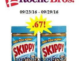Skippy Peanut Butter only .67 at Roche Bros.!
