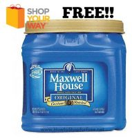 FREE Maxwell House Ground Coffee 39oz!