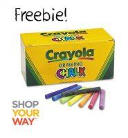 FREE Crayola Drawing Chalk! Great Gift Idea :)