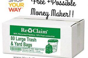 FREE (Possible MM) Webster Re-Claim Lg. Trash & Yard Bags