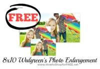Free 8×10 Print at Walgreen's, Last Day!