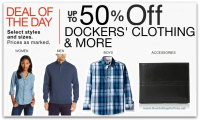 *Deal of the Day* Up to 50% Off Dockers Clothing & Accessories for the Family!