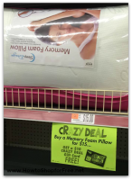 $5 Memory Foam Pillow @ Job Lot! WOW!