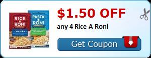 RARE PRINTABLE ~ $1.50 off 4 Rice/Pasta-Roni!! Run + Print!