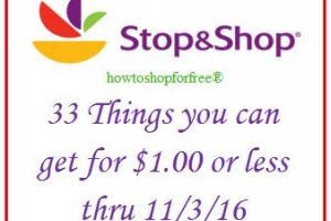 33 things you can get for $1 or less, even FREE at Stop & Shop!
