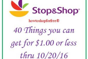 40 things you can get for $1 or less, even FREE at Stop & Shop!