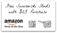 *Deal of the Day* FREE Swarovski Studs with $25 Purchase