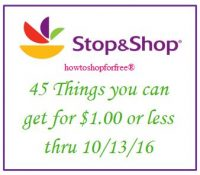 45 things you can get for $1 or less, even FREE at Stop & Shop!