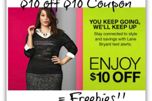 Text for $10 Off at Lane Bryant = Free Item *HOT*