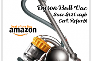 Today Only, SAVE $120 on Dyson Ball Multifloor Canister Vacuum (Cert Refurb)