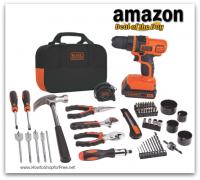 *Deal of the Day* BLACK+DECKER Drill & Project Kit, $60 SHIPPED! Great Gift for Him!