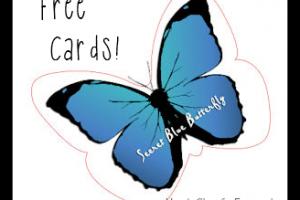 5 Free Secret Blue Butterfly Cards!