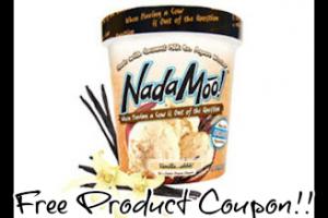 Free NadaMoo Ice Cream Product Coupon!!