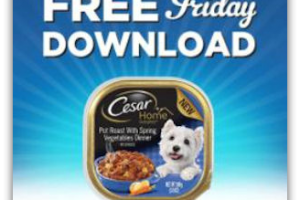 10/28 ~ Free Cesar Dog Food for Kroger & Affiliates